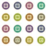 Grupo do ícone do tempo Fotografia de Stock Royalty Free