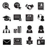 Grupo do ícone do trabalho Imagens de Stock Royalty Free