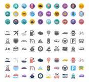 Grupo do ícone do transporte Imagens de Stock