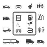 Grupo do ícone do transporte Imagem de Stock Royalty Free
