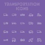 Grupo do ícone do transporte Fotografia de Stock Royalty Free