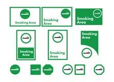 Grupo do ícone do vetor de fumo permitido Foto de Stock Royalty Free
