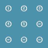 Grupo do ícone do vetor do selo da garantia de garantia Imagens de Stock
