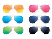 Grupo do ícone do vetor dos óculos de sol ilustração do vetor