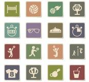 Grupo do ícone do voleibol Fotografia de Stock Royalty Free