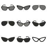 Grupo do ícone dos óculos de sol Imagem de Stock Royalty Free