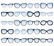 Grupo do ícone dos óculos de sol Quadros e formas diferentes de espetáculo Foto de Stock Royalty Free