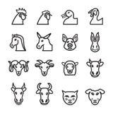 Grupo do ícone dos animais domésticos Vetor EPS 10 Foto de Stock