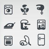 Grupo do ícone dos aparelhos electrodomésticos Fotos de Stock