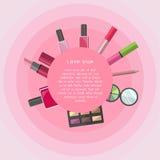 Grupo do ícone dos cosméticos Imagens de Stock Royalty Free
