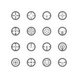Grupo do ícone dos Crosshairs Fotos de Stock