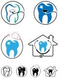 Grupo do ícone dos cuidados dentários Foto de Stock