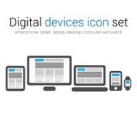 Grupo do ícone dos dispositivos de Digitas Fotos de Stock