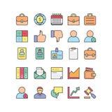Grupo do ícone dos escritórios para negócios Imagens de Stock