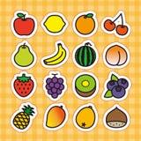 Grupo do ícone dos frutos Imagens de Stock