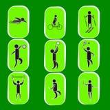 Grupo do ícone dos Jogos Olímpicos do verão Fotos de Stock Royalty Free