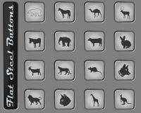 Grupo do ícone dos mamíferos ilustração do vetor