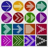 Grupo do ícone dos pontos do sinal da seta Foto de Stock Royalty Free