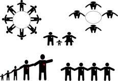 Grupo do ícone dos povos Fotos de Stock
