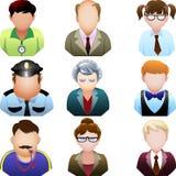 Grupo do ícone dos povos da escola Imagens de Stock Royalty Free