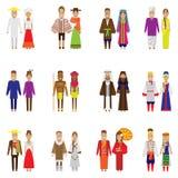 Grupo do ícone dos povos do mundo Imagens de Stock