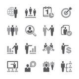 Grupo do ícone dos recursos humanos Fotos de Stock Royalty Free
