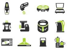 Grupo do ícone dos utensílios da cozinha Foto de Stock