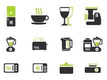 Grupo do ícone dos utensílios da cozinha Foto de Stock Royalty Free