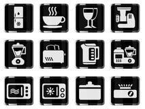 Grupo do ícone dos utensílios da cozinha Imagem de Stock
