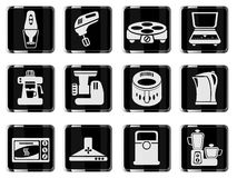 Grupo do ícone dos utensílios da cozinha Imagens de Stock Royalty Free