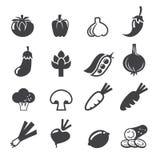 Grupo do ícone dos vegetais Fotos de Stock