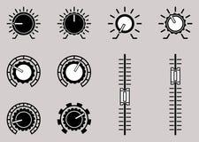 Grupo do ícone do símbolo de controle do volume Ilustração do vetor Imagens de Stock Royalty Free