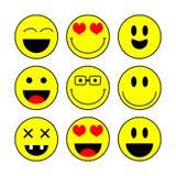 Grupo do ícone do sorriso, vetor Ícones da emoção Os ícones do sorriso vector a ilustração isolada no fundo branco ilustração royalty free