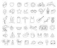 Grupo do ícone do verão da garatuja Imagens de Stock