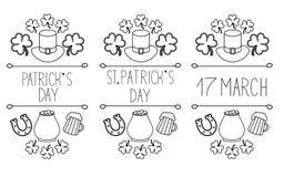 """Grupo do """"do â dos elementos do dia de StPatrick – 3 ilustração stock"""