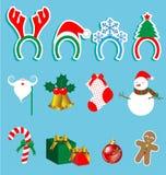 Grupo do acessório do Natal Fotografia de Stock