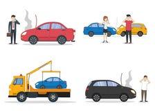 Grupo do acidente de viação ilustração stock