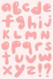 Grupo do alfabeto da caixa baixa Ilustração Royalty Free