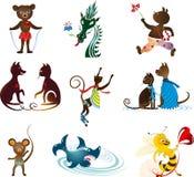 Grupo do animal Imagens de Stock
