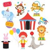 Grupo do animal de circo ilustração stock