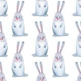 Grupo do animal hare Teste padrão sem emenda 1 Fotografia de Stock