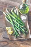 Grupo do aspargo cozinhado fotos de stock royalty free