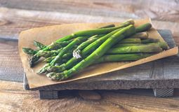 Grupo do aspargo cozinhado fotografia de stock
