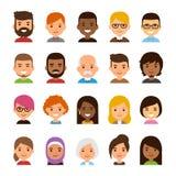 Grupo do avatar dos desenhos animados