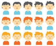 Grupo do avatar dos homens Ilustração Stock