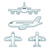 Grupo do avião dos desenhos animados Fotografia de Stock Royalty Free