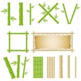 Grupo do bambu ilustração stock