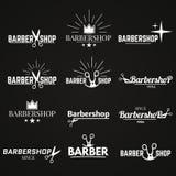 Grupo do barbeiro da coleção Fotografia de Stock Royalty Free