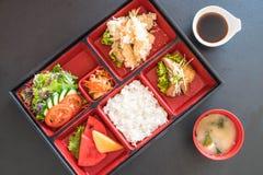 grupo do bento do camarão do tempura imagens de stock royalty free