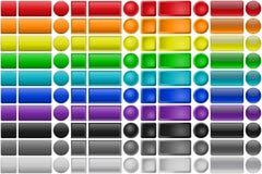 Grupo do botão Imagens de Stock